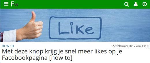 Met deze knop krijg je snel meer likes op je Facebookpagina