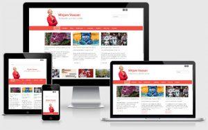 Responsive website Mirjamvossen.nl